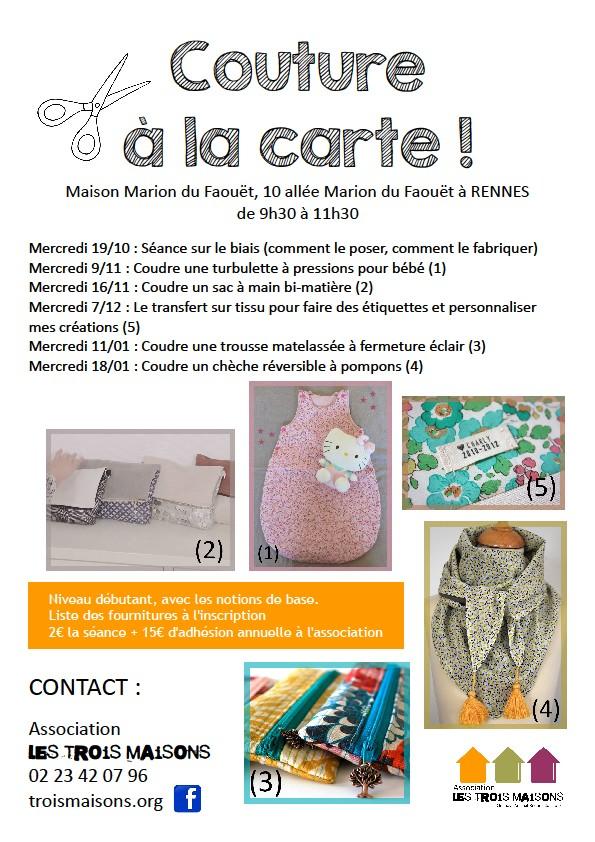 Couture à la carte, maison Marion du Faouët