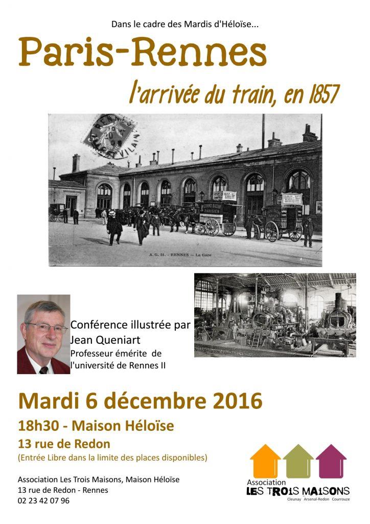 conférence des Mardis d'Héloïse : l'arrivée du train Rennes-Paris, 6 décembre 2016