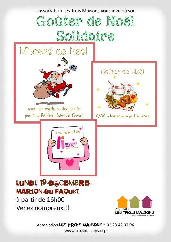 goûter et marché de Noël des Trois Maisons, lundi 19 décembre 2016, à la maison Marion du Faouët