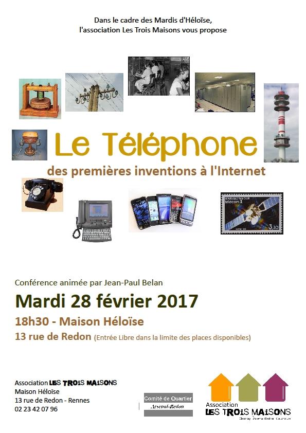 l'histoire du téléphone, conférence animée par Jean-Paul Belan, à la Maison Héloïse, mardi 28 février 2017