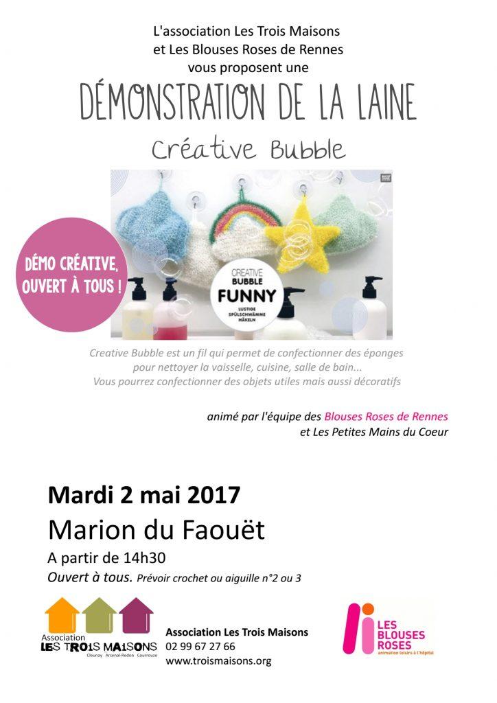 Les Trois Maisons et les Blouses Roses vous propose une démo créative à la Maison Marion du Faouët !