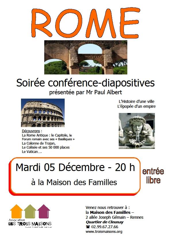 Conférence sur Rome à la Maison des Familles : l'histoire d'une ville, l'épopée d'un empire
