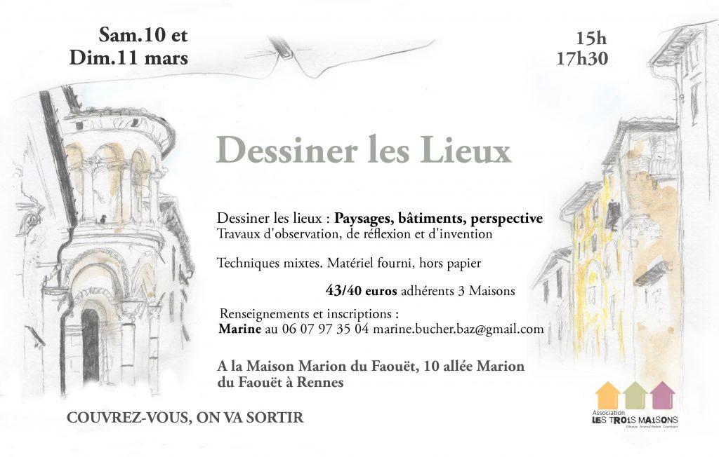 stages dessiner les lieux - mars 2018 - Rennes